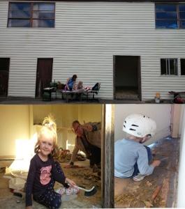 Vaikai remontuoja